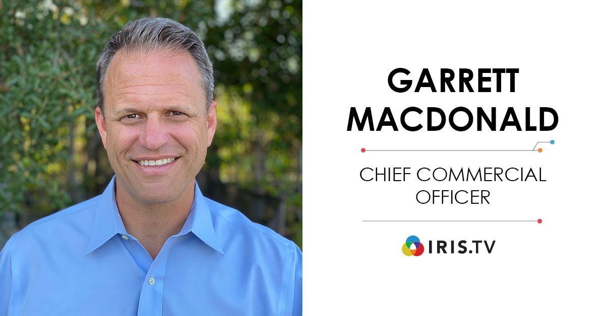 Garrett MacDonald Joins IRIS.TV as Chief Commercial Officer